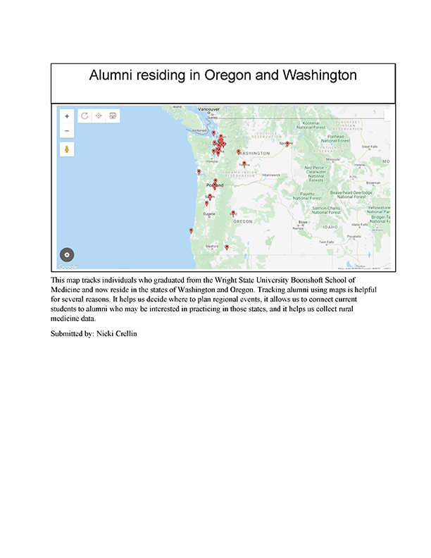 Alumni residing in Oregon and Washington map