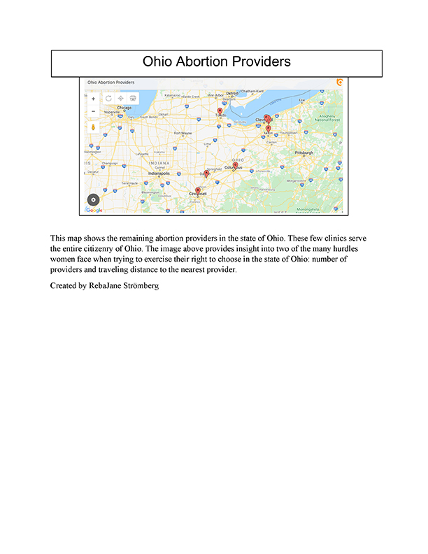 Ohio Abortion Providers map